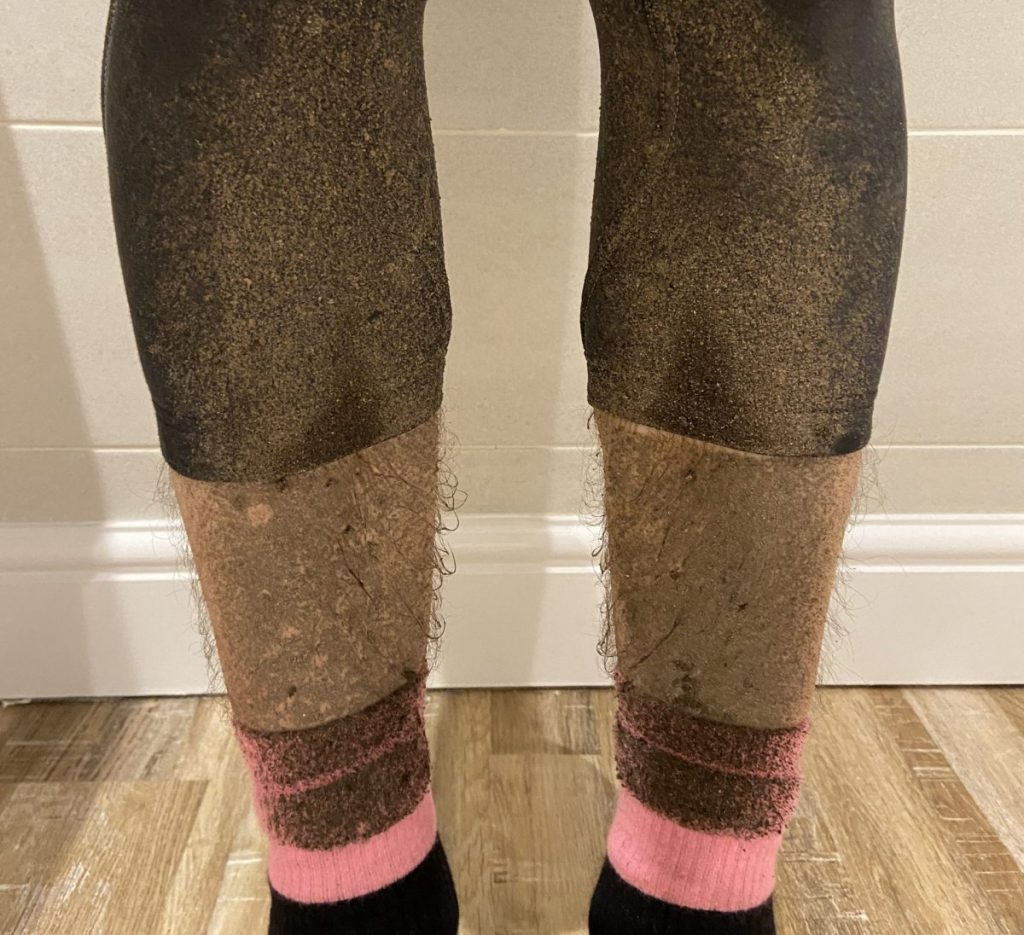 dirty cycling legs